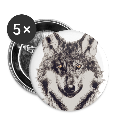 WOLF OR SHEPHERD - Buttons klein 25 mm (5er Pack)