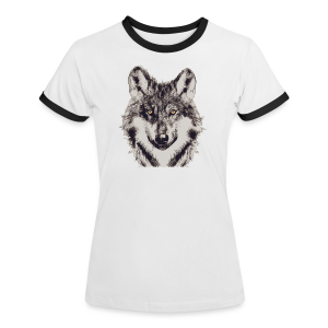 WOLF OR SHEPHERD - Frauen Kontrast-T-Shirt