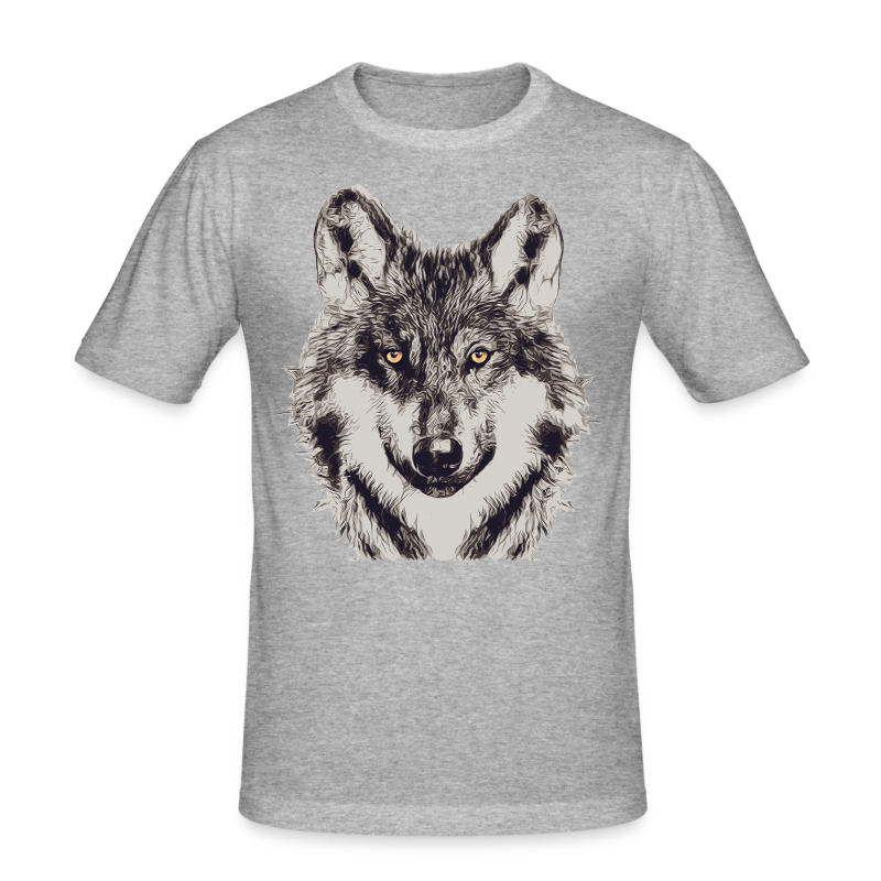 WOLF OR SHEPHERD - Männer Slim Fit T-Shirt