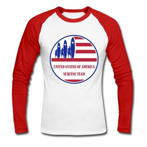 USA Surfing Team - Men's Long Sleeve Baseball T-Shirt