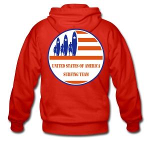 USA Surfing Team - Men's Premium Hooded Jacket