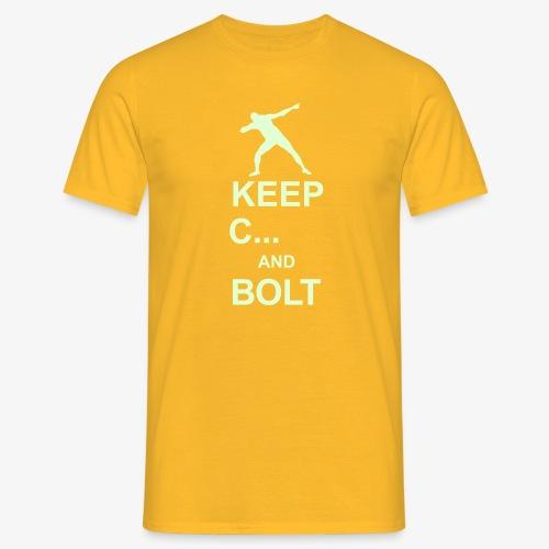 Keep Calm and Bolt - Men's T-Shirt