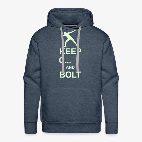Keep Calm and Bolt - Men's Premium Hoodie