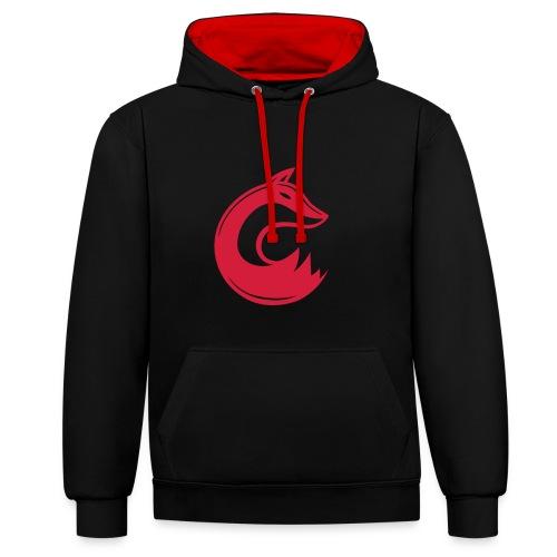 Swiftfox Red Hoodie  - Kontrast-Hoodie