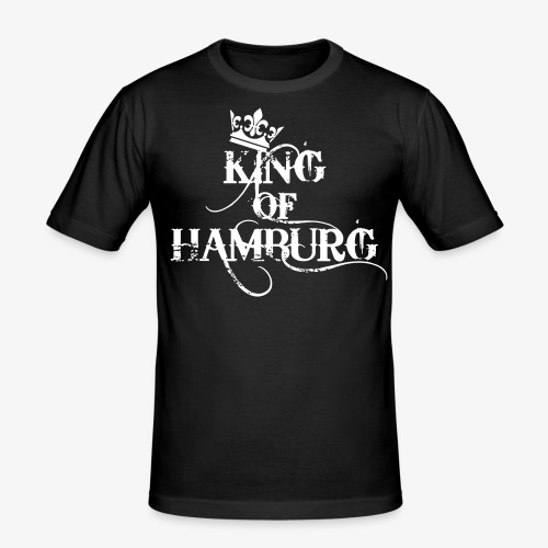 King of Hamburg Krone Kiez König Kings T-Shirt - Männer Slim Fit T-Shirt