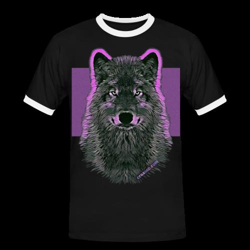 WOLF PINK - Männer Kontrast-T-Shirt