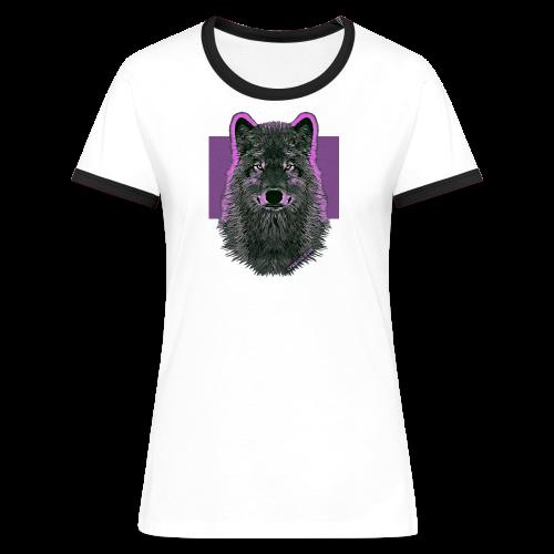 WOLF PINK - Frauen Kontrast-T-Shirt