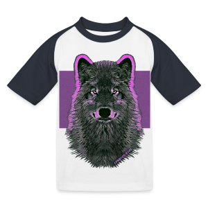 WOLF PINK (Kids) - Kinder Baseball T-Shirt