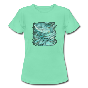 BOARDEVIL Water Colored Surfer - Frauen T-Shirt