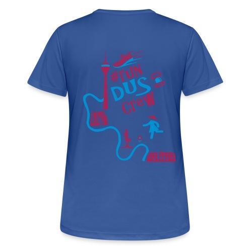 #run dus crew - Damen Fuchsia - Gänseblümchen - Frauen T-Shirt atmungsaktiv