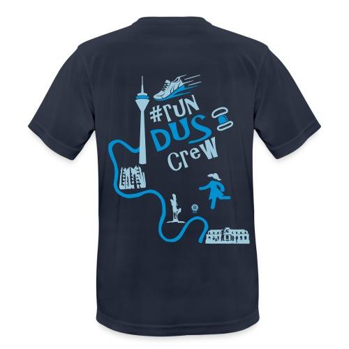 #run dus crew - Herren - blau - Gänseblümchen - Männer T-Shirt atmungsaktiv