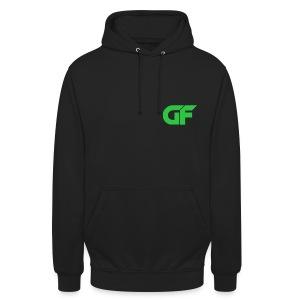 Unisex Hoodie with Green Logo - Unisex Hoodie