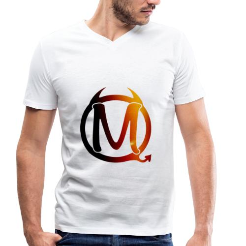 Simply White  - Männer Bio-T-Shirt mit V-Ausschnitt von Stanley & Stella