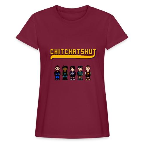 Band Wine Red - Oversize Women's Shirt - Women's Oversize T-Shirt