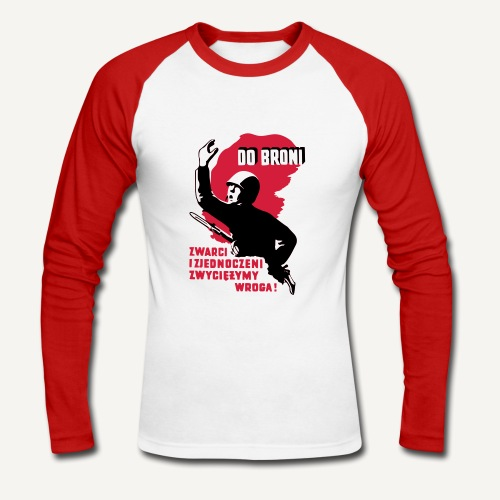 Do broni - bluza - Koszulka męska bejsbolowa z długim rękawem