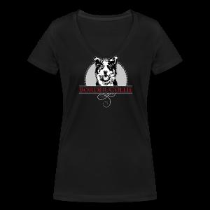 Border Collie - Frauen Bio-T-Shirt mit V-Ausschnitt von Stanley & Stella