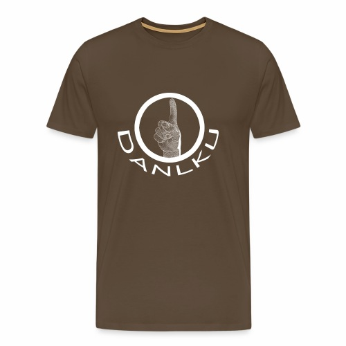 DANLKU - logo blanc - homme - T-shirt Premium Homme