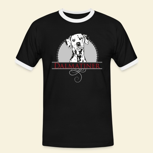 Dalmatiner - Männer Kontrast-T-Shirt