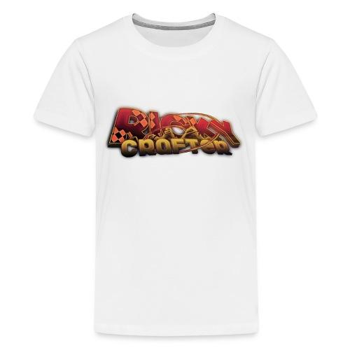 T-Shirt - RickyCrafter Aufschrift - Teenager Premium T-Shirt