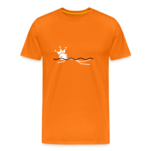 Zwemkoning premium T-shirt - Mannen Premium T-shirt