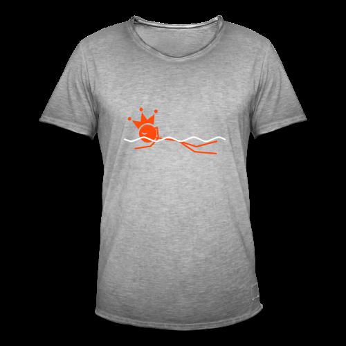 Zwemkoning vintage shirt - Mannen Vintage T-shirt