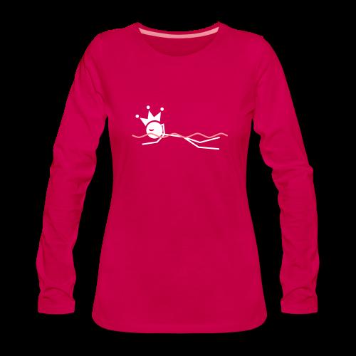 Zwemkoningin premium shirt - Vrouwen Premium shirt met lange mouwen