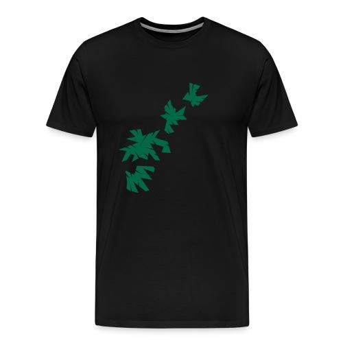 Green Leaves T-Shirt Design - Männer Premium T-Shirt