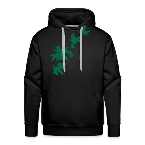 Green Leaves Pullover Design - Männer Premium Hoodie