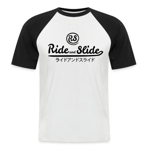 T-shirt baseball black white RSJPN black men - T-shirt baseball manches courtes Homme