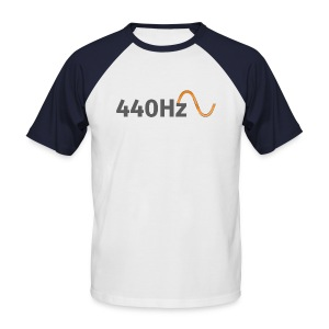 440Hz T-Shirt White&Blue - Männer Baseball-T-Shirt