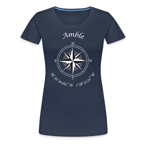Compass (white text) - Women's Premium T-Shirt
