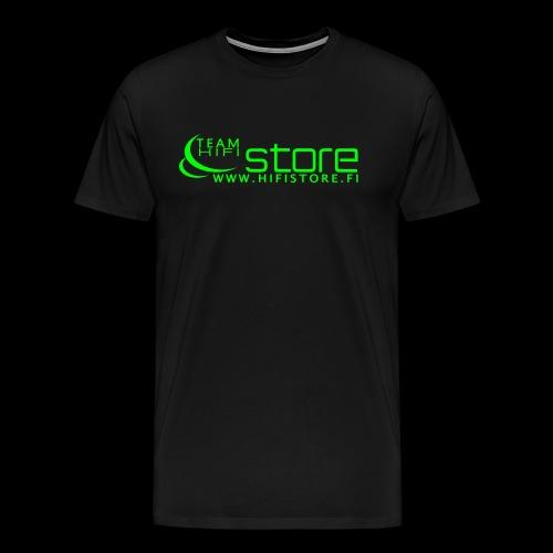 Team Hifistore T-paita neon vihreä - Miesten premium t-paita