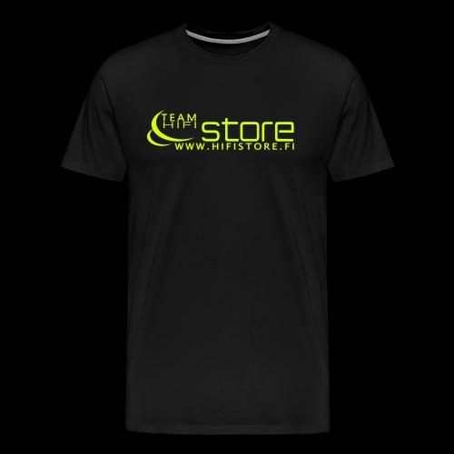 Team Hifistore T-paita neon keltainen - Miesten premium t-paita