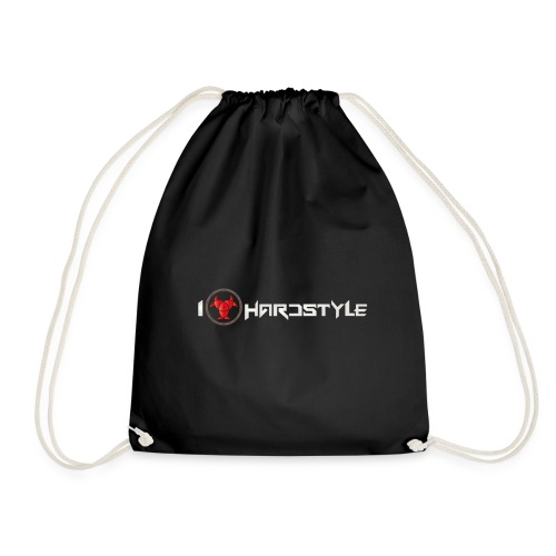 I Love Hardstyle Bag - Drawstring Bag