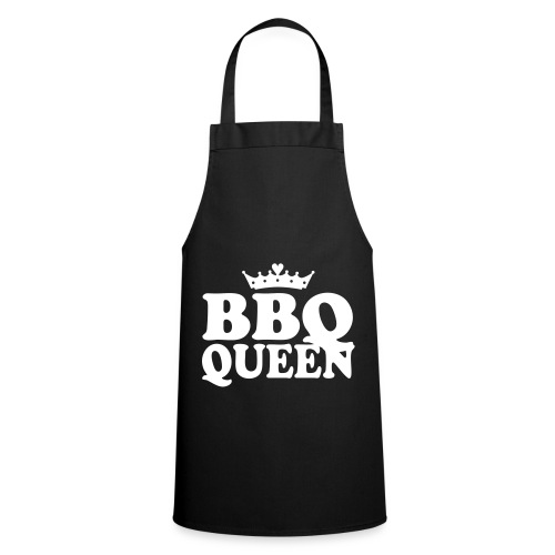 Cooking Woman Keukenschort: BBQ-Queen Zwart - Keukenschort