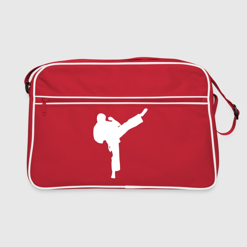 Rood/wit karate_man Tassen - Retro-tas
