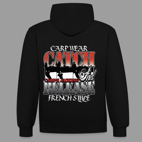 Catch and release  Carp's Jacking sweat bicolore - Sweat-shirt contraste