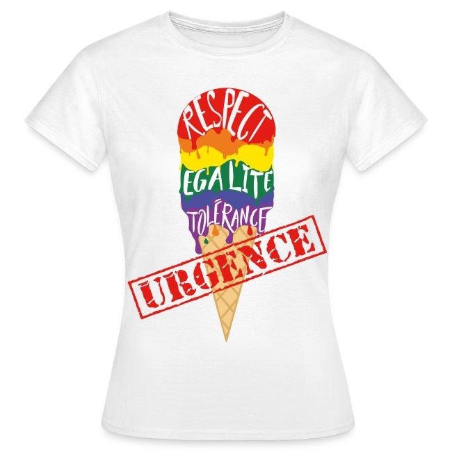 """T-shirt femme """"URGENCE"""" Fiertés 2017"""