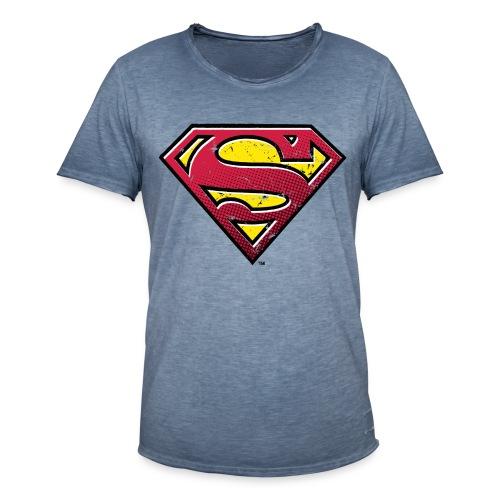 Superman Logo schlange - Männer Vintage T-Shirt