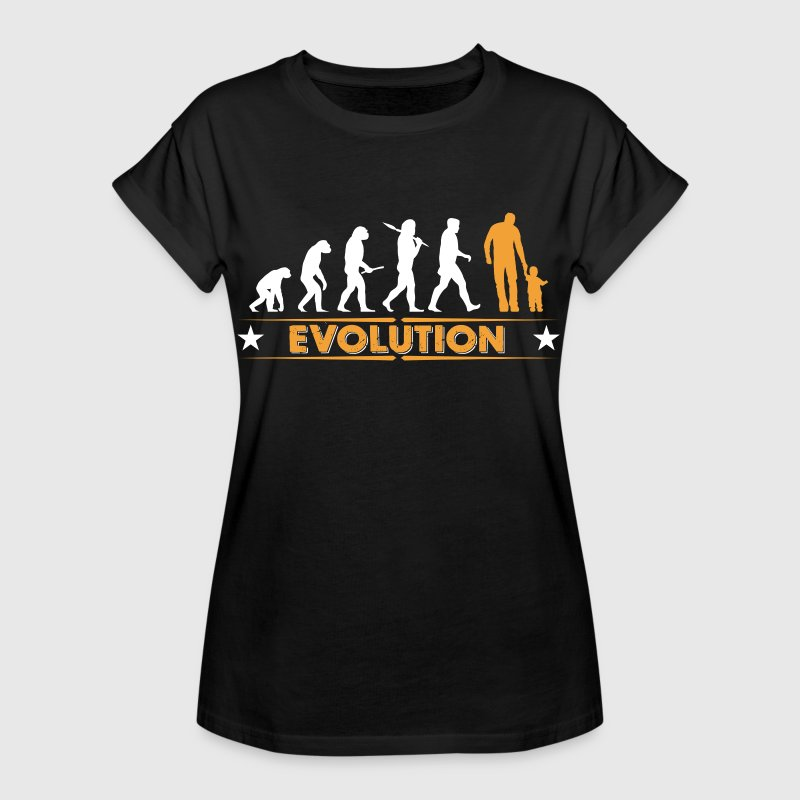 vater und sohn evolution orange weiss frauen oversize t shirt spreadshirt. Black Bedroom Furniture Sets. Home Design Ideas