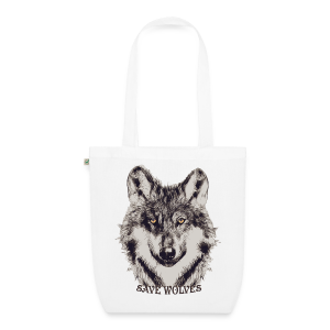 SAVE WOLVES - Bio-Stoffbeutel