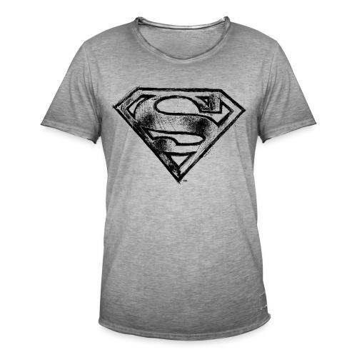 Superman Logo schwarz Bleistift - Männer Vintage T-Shirt