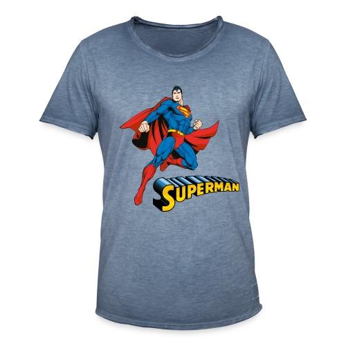 Superman Pose mit Schriftzug - Männer Vintage T-Shirt