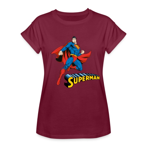 Superman Pose mit Schriftzug - Frauen Oversize T-Shirt