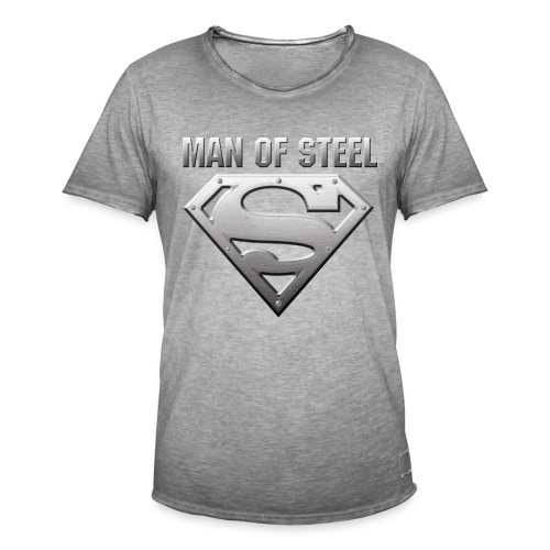 Superman Man of Steel  - Männer Vintage T-Shirt