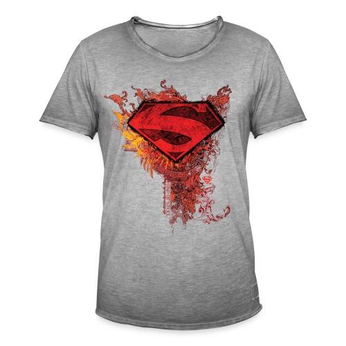 Superman Logo rot - Männer Vintage T-Shirt
