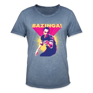 Big Bang Theory Sheldon Bazinga - Männer Vintage T-Shirt
