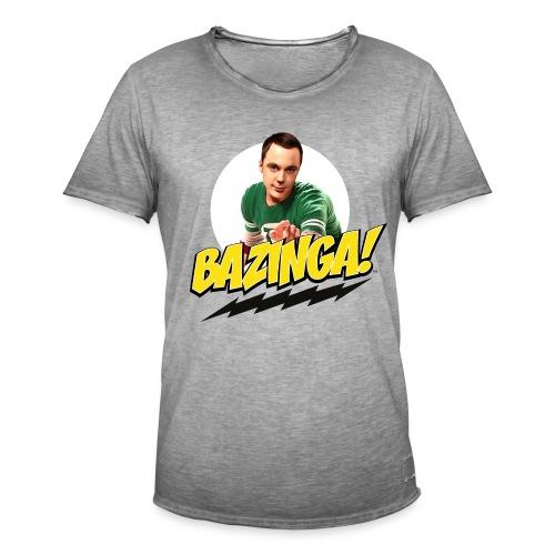 Big Bang Theory Sheldon Bazinga - Männer Vintage T-Shirt