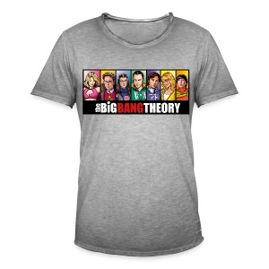 The Big Bang Theory Comic - Männer Vintage T-Shirt