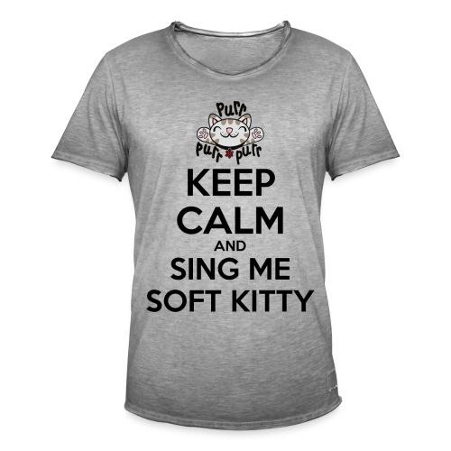 Big Bang Theory Sing me Soft Kitty - Männer Vintage T-Shirt